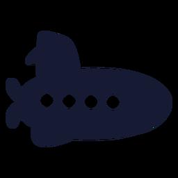 Simple submarine silhouette