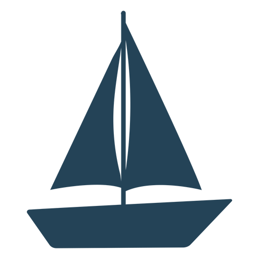 Simple vector sailboat