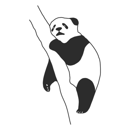 Vector de panda para dormir