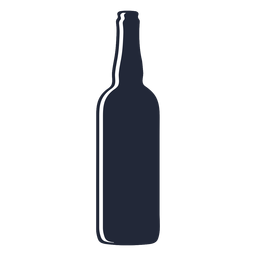 Silueta de botella de cerveza delgada