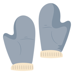 Snow gloves fluffy