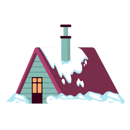 Casa nevada simple
