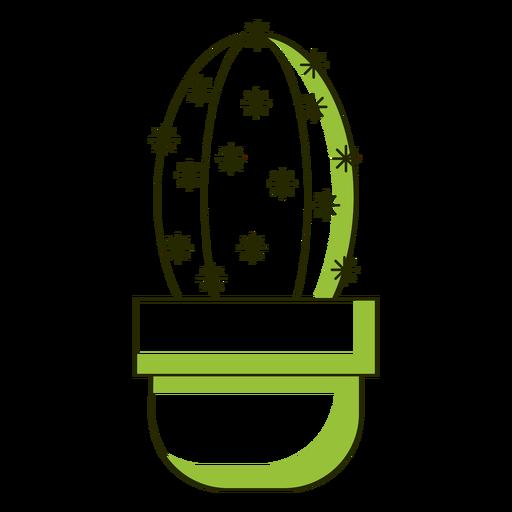 Tono dúo de ilustración de cactus puntiagudo