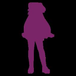 Silhueta de menina anime em pé