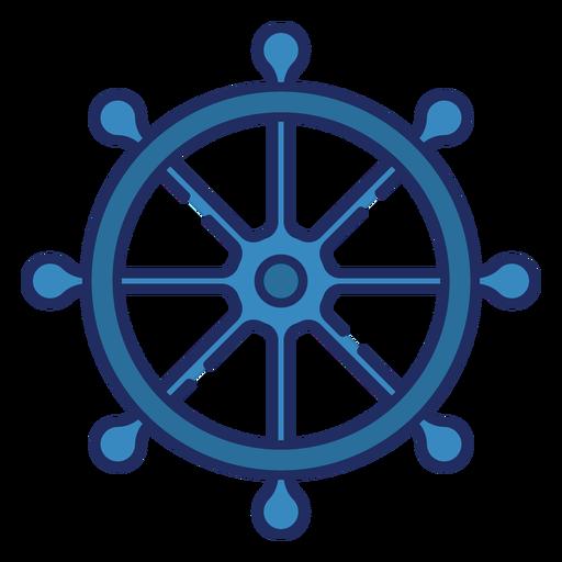 Volante pirata plano Transparent PNG