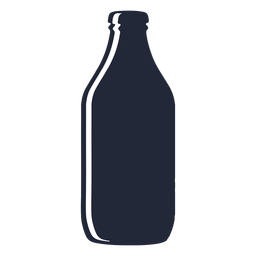 Stout beer bottle silhouette