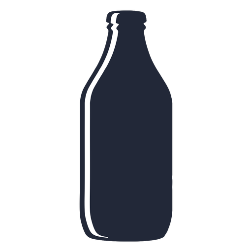 Stout beer bottle silhouette Transparent PNG