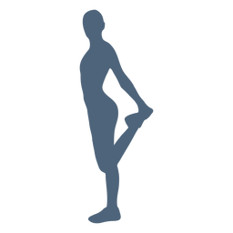 Stretching person silhouette