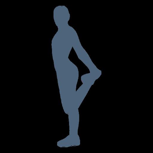 Estiramiento de silueta de persona Transparent PNG
