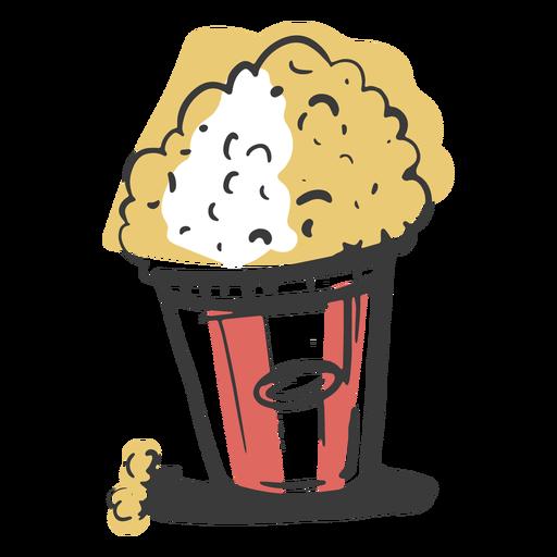 Stroke popcorn element