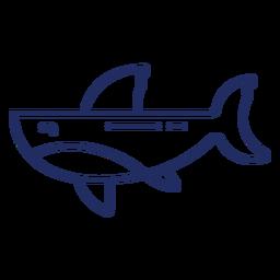 Trazo de ballena de color