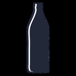 Tall beer bottle silhouette