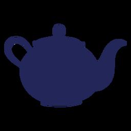 Silhueta de Londres de bule de chá