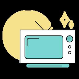 Televisão colorida fofa
