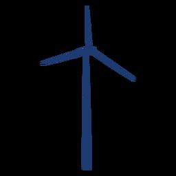 Moinho de vento simples e fino