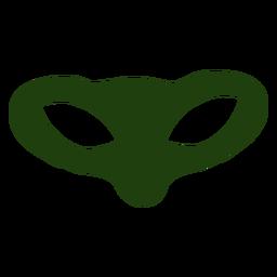 Cabeza alienígena muy ancha