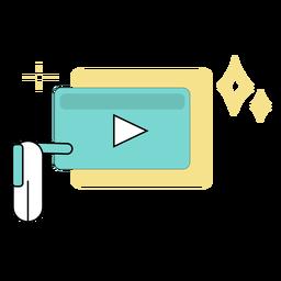 Video presentation colored