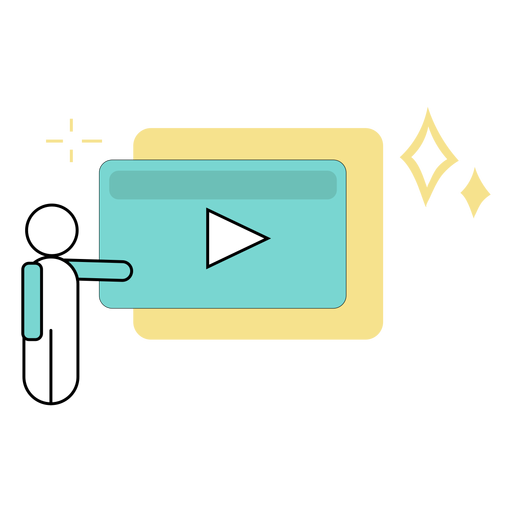 Video presentation colored Transparent PNG