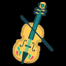 Violin cute flat