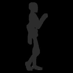 Wellen-Skelett-Silhouette