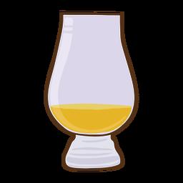 Golpe de vaso de whisky