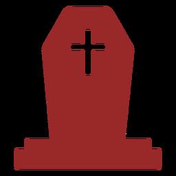 Con silueta de lápida cruzada