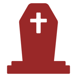 With cross gravestone silhouette