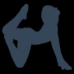 Pose de persona de yoga