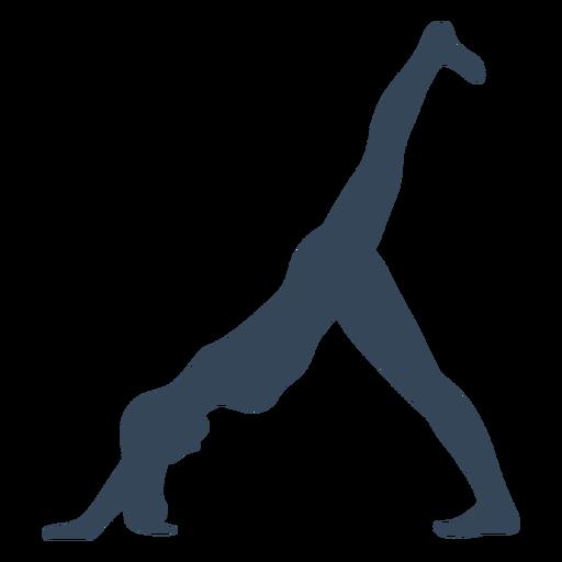 Pose de yoga silueta fitness Transparent PNG