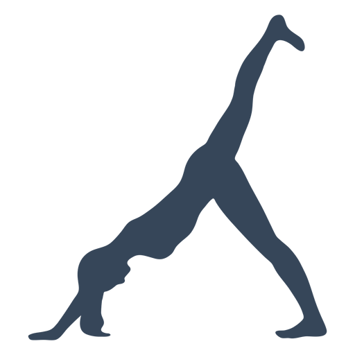 Yoga pose silhouette fitness Transparent PNG