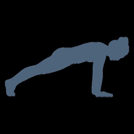 Pose de silueta de yoga Transparent PNG
