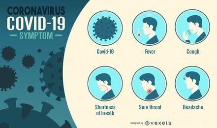 Infografik mit Coronavirus-Symptomen