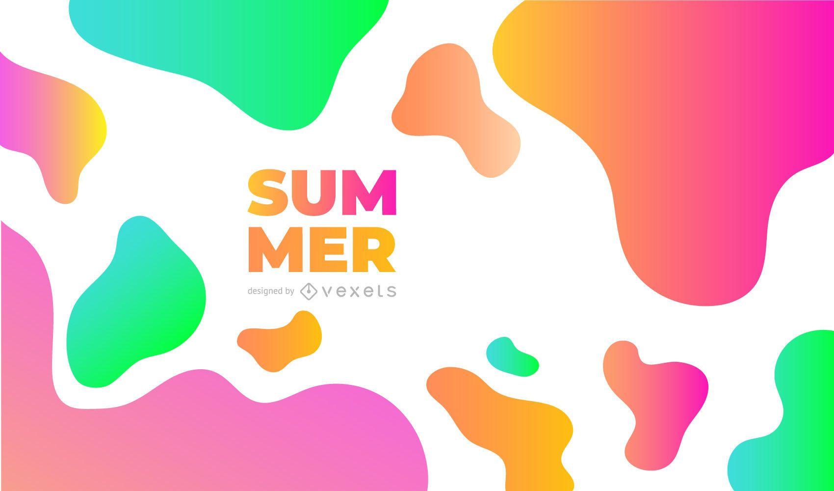Diseño de fondo abstracto de verano