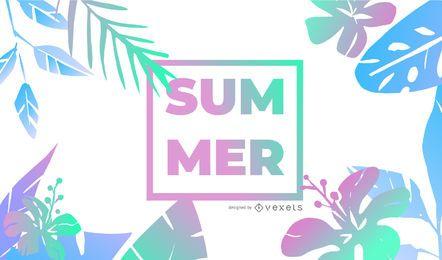 Design de fundo gradiente de verão