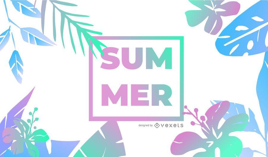 Summer gradient background design