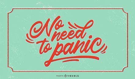 Nenhum design de letras cobertas de pânico