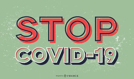 Stoppen Sie das Covid-19-Schriftdesign