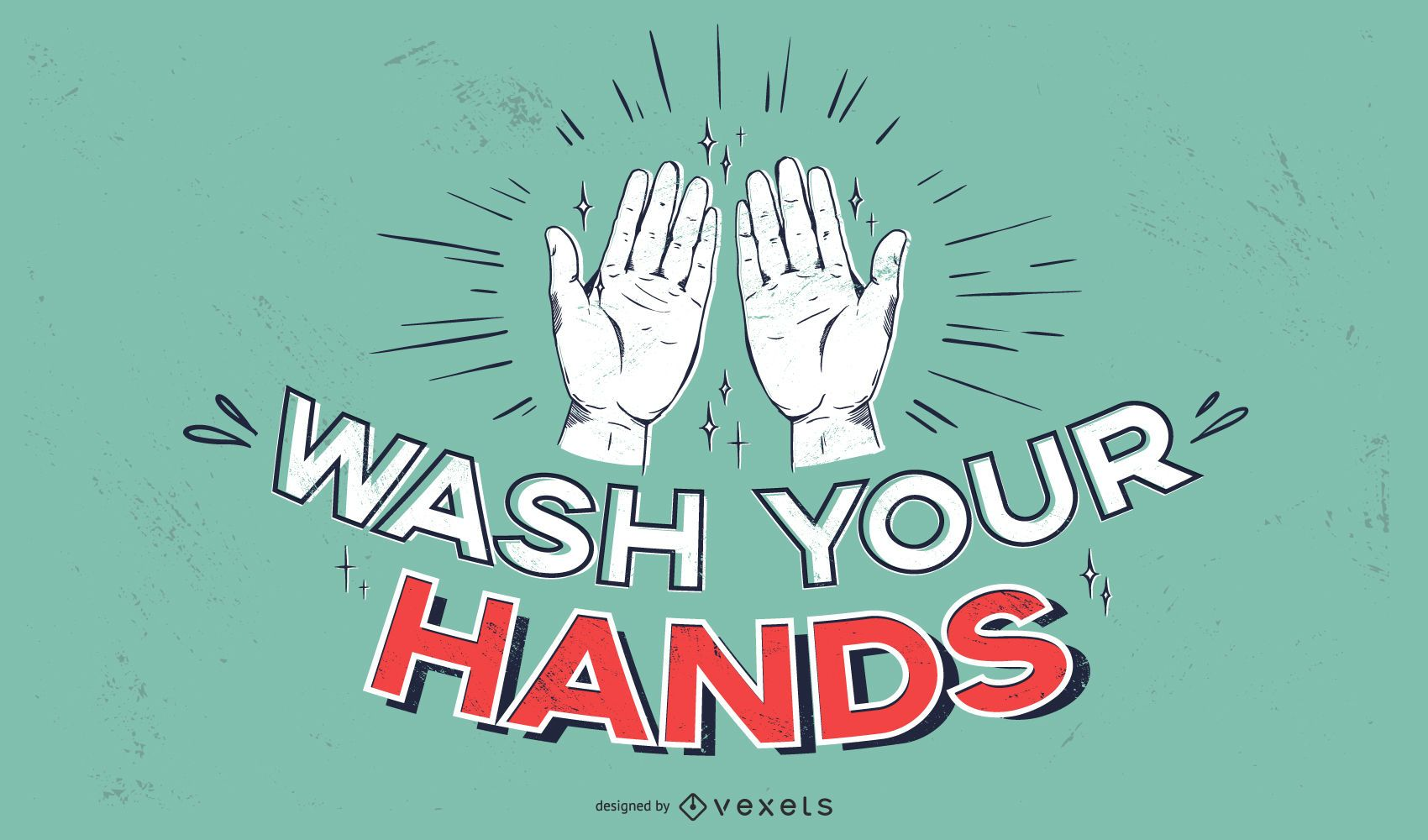 Wash your hands covid lettering