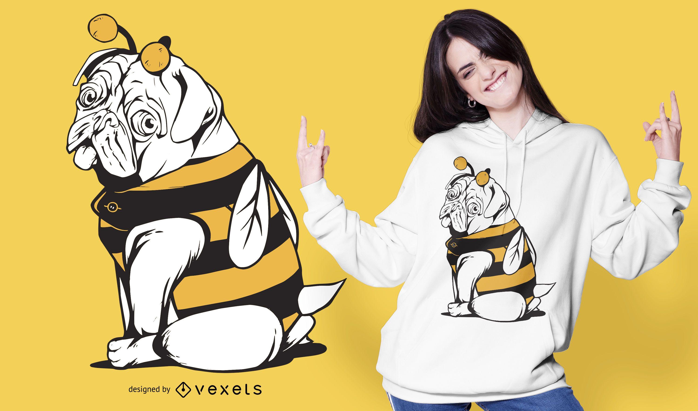 Bee Mops Hund T-Shirt Design
