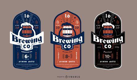 Pacote de design de etiqueta de cerveja