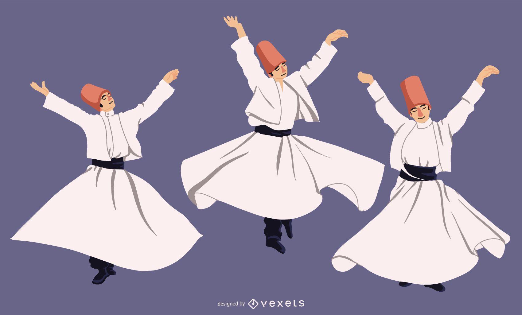 Whirling Dervish Character Set