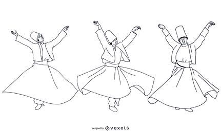 Stroke Style Turkish Dancers Pack