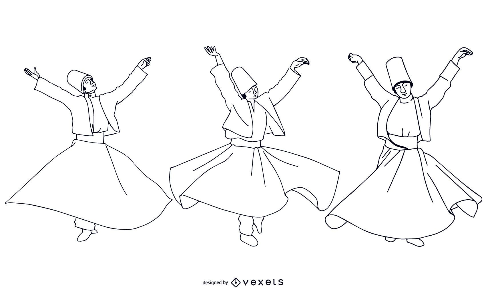 Stroke Style Turkish Dancers Pack