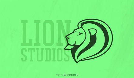 Modelo de logotipo de estúdios de leão