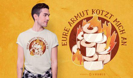 SOLICITAR design de camiseta de papel higiênico