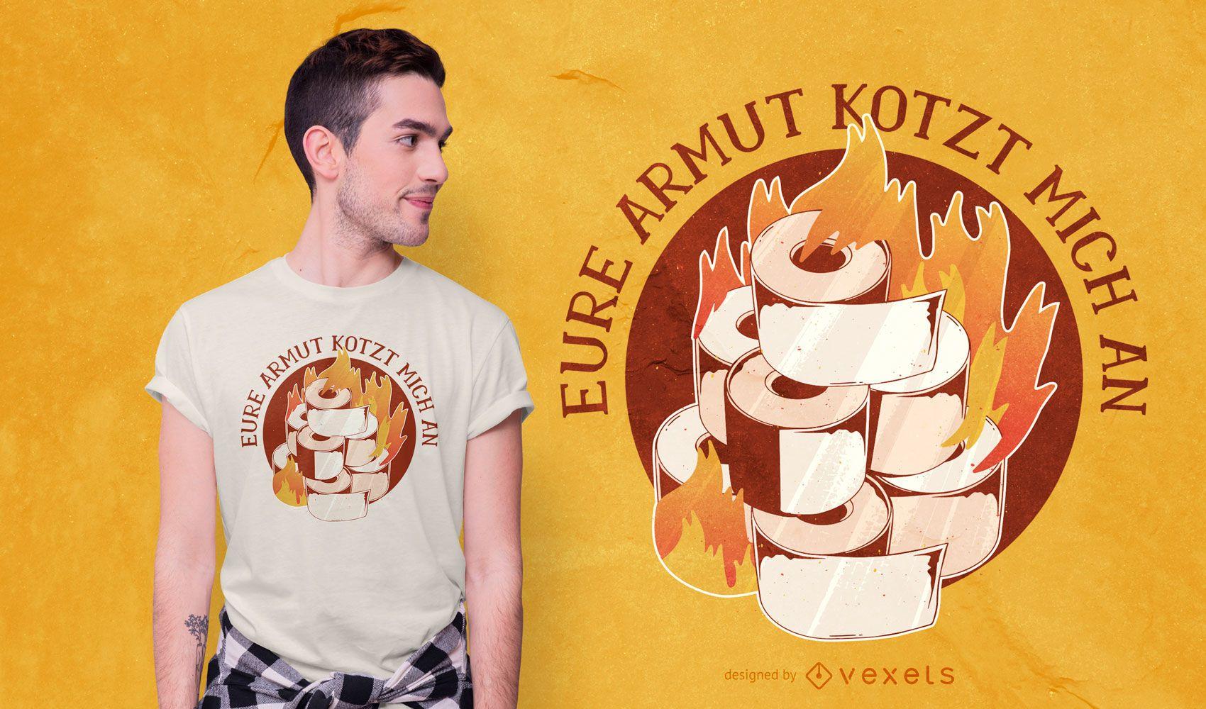 REQUEST toilet paper t-shirt design