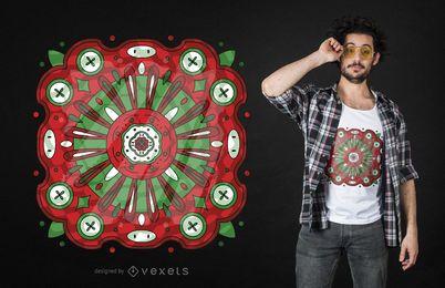 Diseño de camiseta abstracta de vidrieras