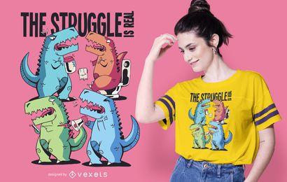 Diseño de camiseta de problemas de t-rex.