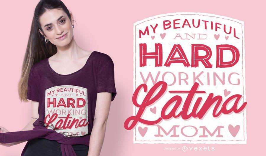 Diseño de camiseta latina mom