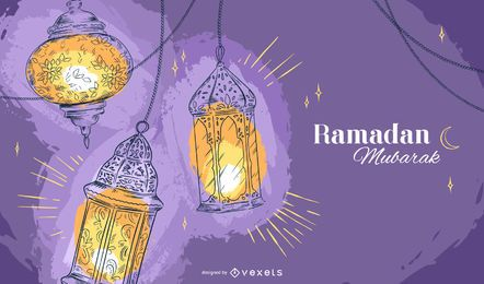 Ramadan Lamps Background Design